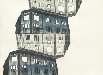 thumb Huse stablet med gråblå maling 42 x 53